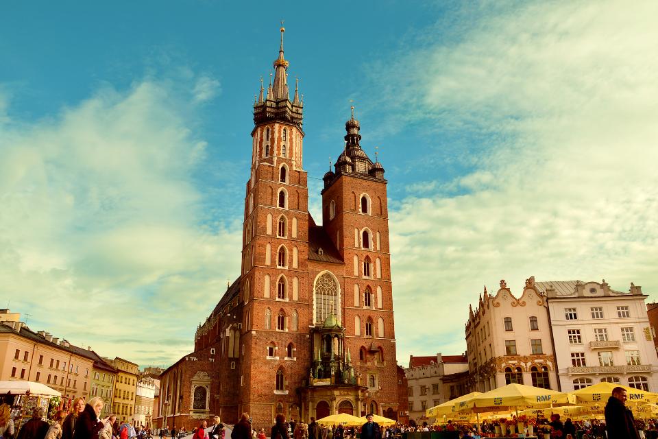 Bazylika Mariacka na rynku w Krakowie